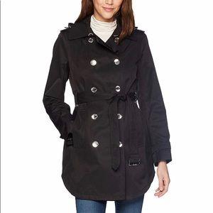 Calvin Klein Black Trench Rain Coat
